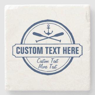 Custom Lake, Beach House & Boat Nautical Anchor Stone Coaster