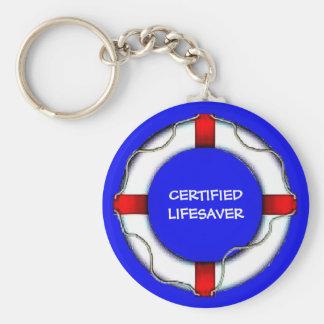 Custom Lake Certified Lifesaver Basic Round Button Keychain