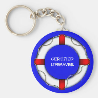 Custom Lake Certified Lifesaver Keychain