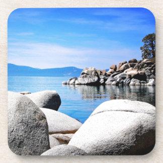 Custom Lake Tahoe Sand Harbor Photograph Drink Coaster