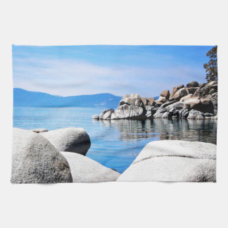Custom Lake Tahoe Sand Harbor Photograph Kitchen Towel
