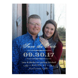 Custom - Lane and Shelby Save the Date Postcard