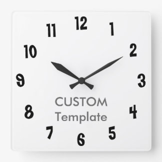 "Custom Large 10.75"" Square Wall Clock BIG LIMBO"