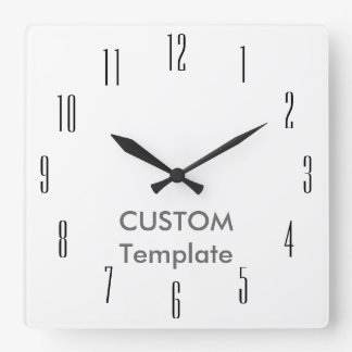 "Custom Large 10.75"" Square Wall Clock EMPIRE"