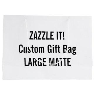 Custom LARGE MATTE Gift Bag Blank Template Large Gift Bag