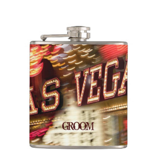 Custom Las Vegas Wedding Liquor Hip Flask