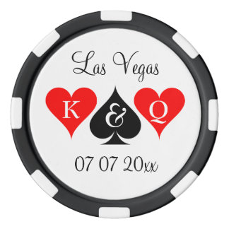 Custom Las Vegas wedding party favor poker chips