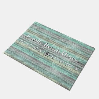 Custom Lattitude And Longitude Coastal Decor Doormat