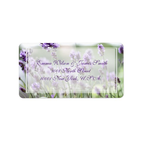 Custom Lavender Bohemian Wedding Address Labels