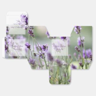 Custom Lavender Bohemian Wedding Favor Boxes