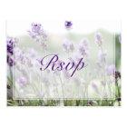 Custom Lavender Bohemian Wedding RSVP Postcards