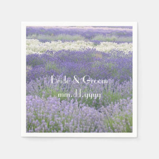 Custom Lavender Field Wedding Napkin
