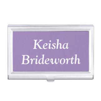 Custom Lavender Purple Contemporary Colorful Business Card Holder