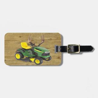 Custom Lawnmower Luggage Tag