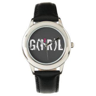 Custom Leather vintage girl Watch