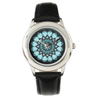 Custom Leather vintage mandala Watch