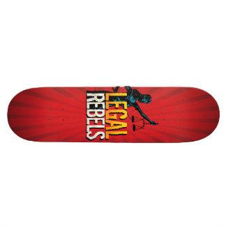 Custom Legal Rebels Starburst Skateboard