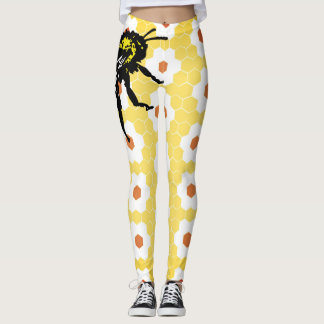 Custom Leggings HONEYCOMB & BEE
