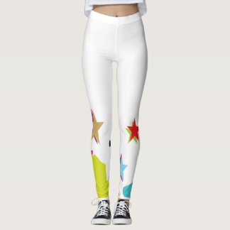 Custom Leggings with bold COLORFUL PRINT