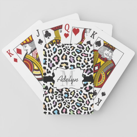 Custom Leopard Print Multi Colours Cards