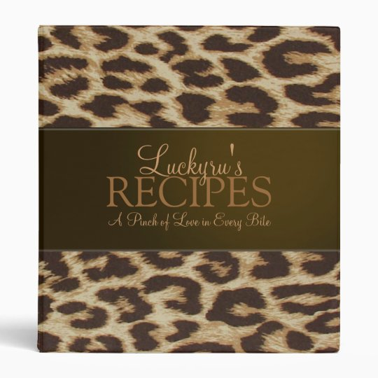 Custom Leopard Print Recipe Binder
