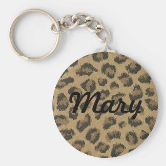 Custom Leopard Skin Key Chain