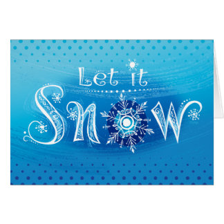 Custom Let It Snow Christmas Card