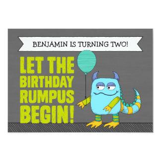 CUSTOM Let The Birthday Rumpus Begin! Invitations
