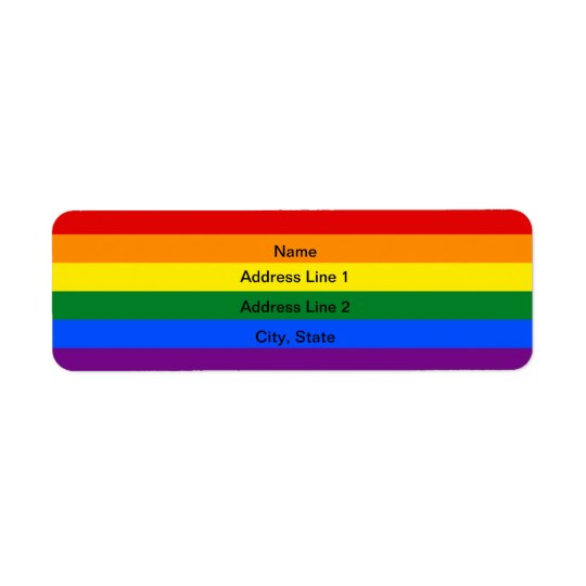 Custom LGBT flag Address Labels