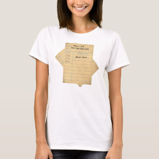 Custom Library Book Card T-Shirt