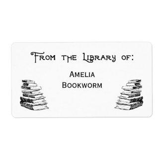 "Custom ""Library Of"" Vintage Art Labels"