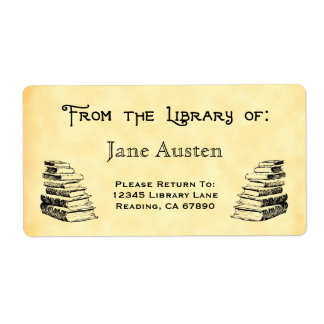 """Custom """"Library Of"""" Vintage Books Labels"""