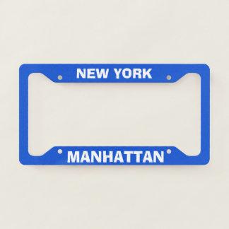 Custom License Plate Frame Manhattan New York