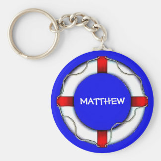 Custom Lifesaver Basic Round Button Keychain