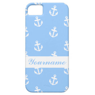 Custom Light Blue Anchor Case For The iPhone 5