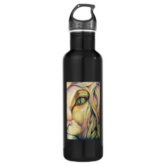 Custom Lion Art Water Bottle