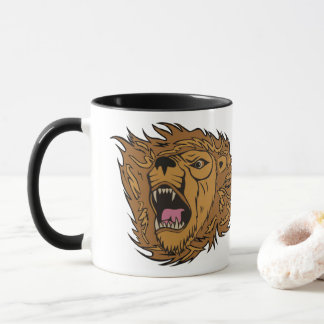 Custom Lion Logo Graphic Art Mug