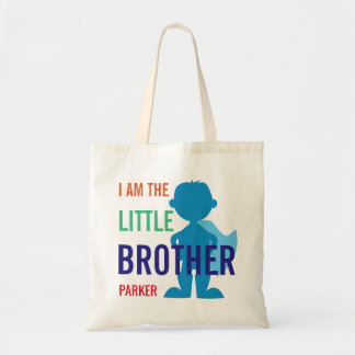 Custom little brother superhero silhouette boys
