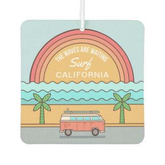 Custom Location Surfer car air freshner Car Air Freshener