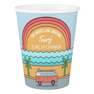 Custom Location Surfer paper cups