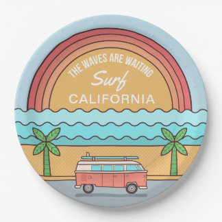 Custom Location Surfer paper plates
