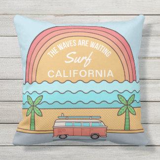 Custom Location Surfer throw pillows