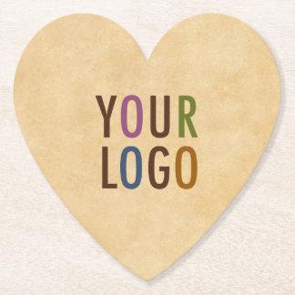 Custom Logo Branded Antique Vintage Style Heart Paper Coaster