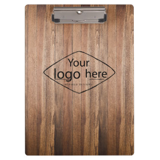 Custom logo custic barn wood clipboard