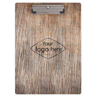 custom logo Old woodgrain texture Clipboard