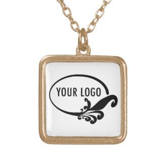 Custom Logo Square Pendant Necklace
