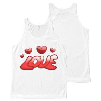 Custom Love All-Over Printed Unisex Tank