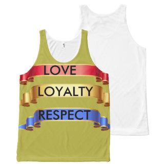 Custom Love,Loyalty,Respect Tank