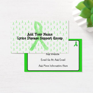 Custom Lyme Disease Support Group Business Card