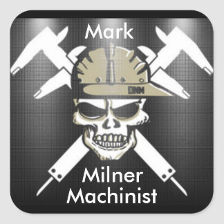 Custom Machinist Sticker